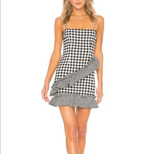 NWT Lovers + Friends Gabby Mini Dress in Checkers